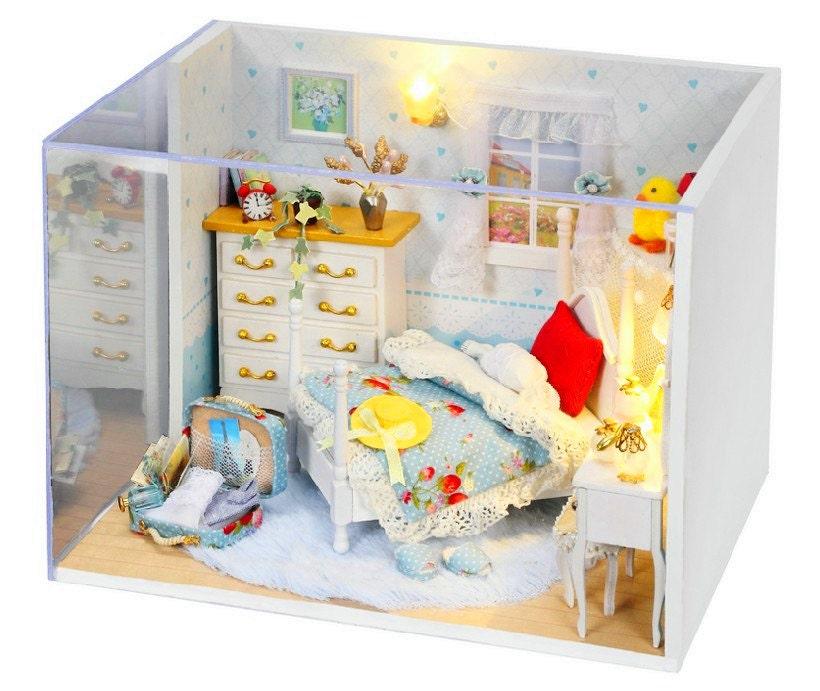 1 24 Miniature Dollhouse Diy Kit Lovely Princess Room With