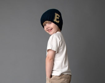 Boys Slouch Hat, Monogrammed Hat, Personalized Boys Hat, Winter Hats for Boys, Fall Hat, Cotton Hat, Hipster Style Hats, Hats for Kids, Boys