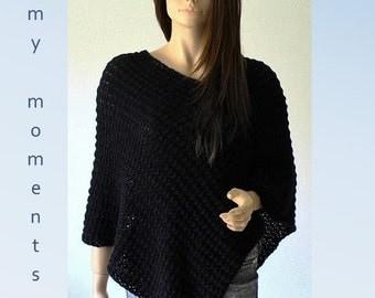 PONCHO Wool / Alpaka black