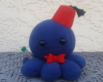 Doctor Who Octopus Plush - Matt Smith - Eleventh Doctor - Made to Order - Custom Colors Available