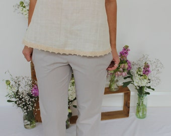 Organic Cotton Summer Swing Top - Natural