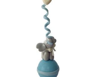 It's a Boy Cake Topper, Elephant Cake Topper, Baby Shower Cake Topper..