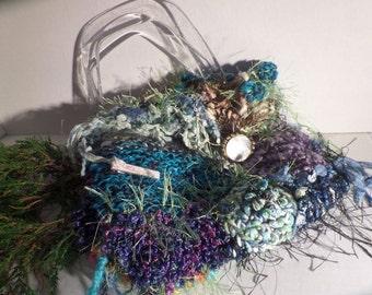 Vintage Handmade Crochet Purse