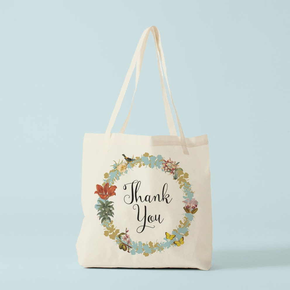 Thank You Tote Bag, canvas bag, cotton bag, groceries bag, tote ...