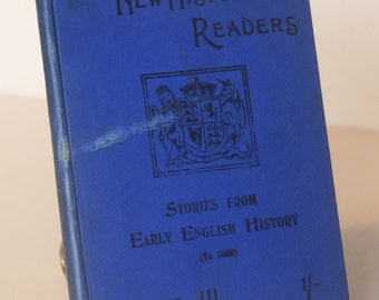 Historical readers Children British History textbook rare old book stories Antique