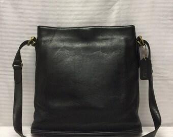 Coach Leather Purse, USA, Shoulder Bag, Black, Bag