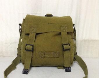 Free Ship Military Green Canvas Shoulder Bag Purse