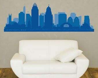 Louisville Kentucky Skyline Wall Decal Art Vinyl By