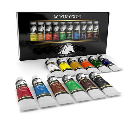 12x12ml acrylic paint set artist quality paints for for Professional painting supplies