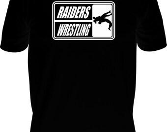 Glitter Bling Personalized Custom Team Name Mascot Wrestling Short Sleeve T-Shirt