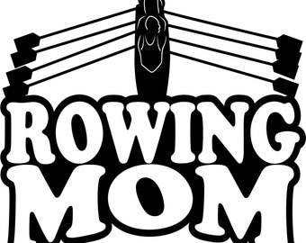 Rowing Mom Hoodie/ Rowing Mom Sweatshirt/ Rowing Mom Clothing/ Rowing Mom Gift/ Rowing Mom/ Rowing/ Rowing Mom Hoodie Sweatshirt