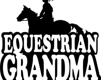 Equestrian Grandma Hoodie/ Equestrian Grandma Sweatshirt/ Equestrian Grandma Gift/ Girl Rider Equestrian Grandma Hoodie Sweatshirt