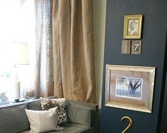 "Burlap Curtain Panel 68"" - choose a length"
