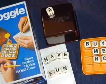 1977 Vintage Boggle Parker Brothers Hidden WORD Game