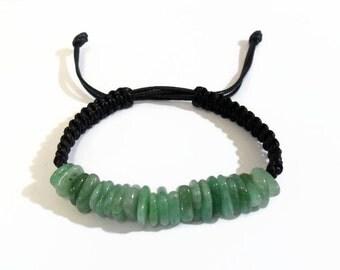 Green aventurine Bracelet, shamballa bracelet, green aventurine shamballa, green adventurine, chakra bracelet, green macrame bracelet,