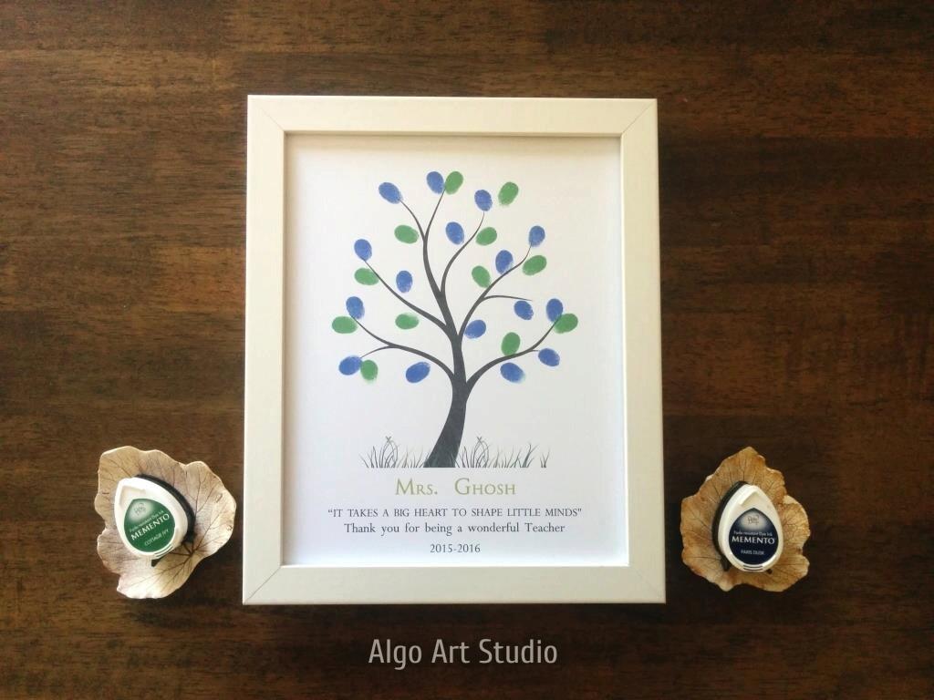 Teacher Gift Fingerprint Tree Classroom Gift Graduation