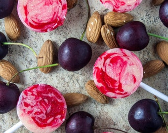 Cherry Amaretto Lollipops x 5 ~ Wedding ~ Birthday ~ Party Favour ~