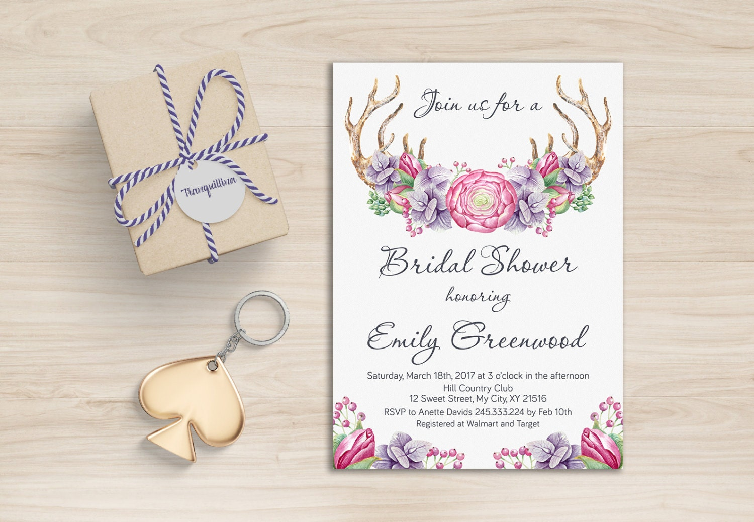 Woodland Bridal Shower Invitation