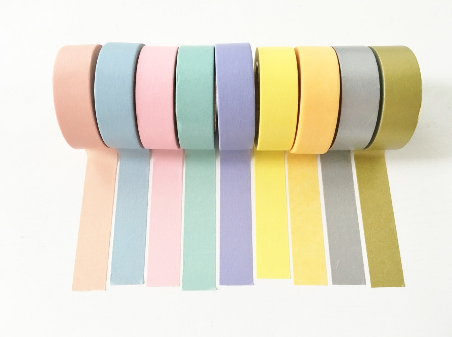 pastel neon washi tape set from papergeekco on etsy studio. Black Bedroom Furniture Sets. Home Design Ideas