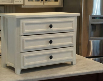 3-Drawer Table/Countertop Chest
