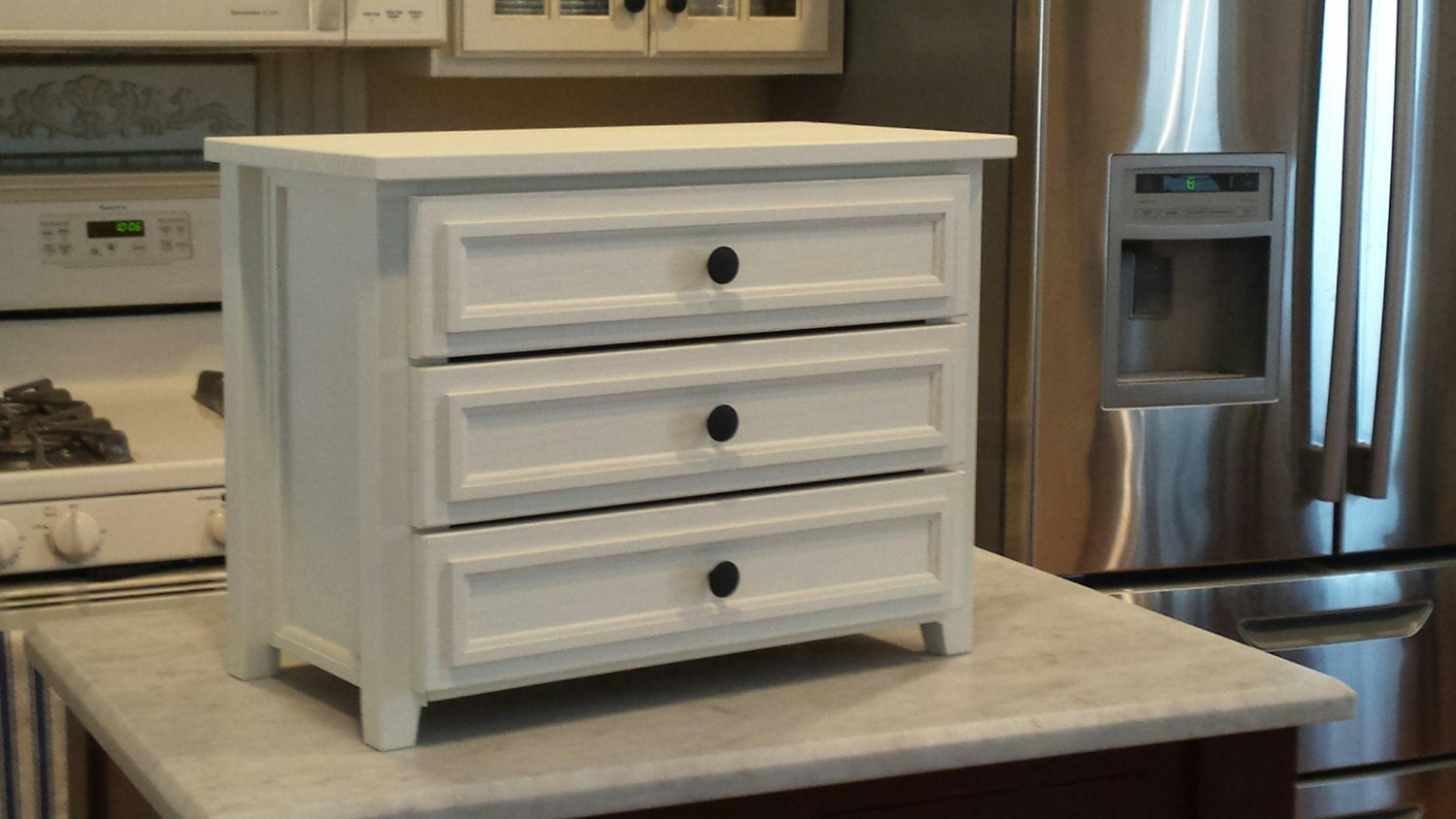3 Drawer Table Countertop Chest