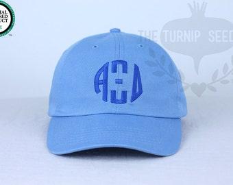 Alpha Xi Delta Circle Design Baseball Cap - Custom Color Hat and Embroidery.