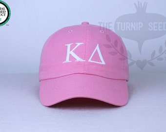 Kappa Delta Greek Only Sorority Baseball Cap - Custom Color Hat and Embroidery.
