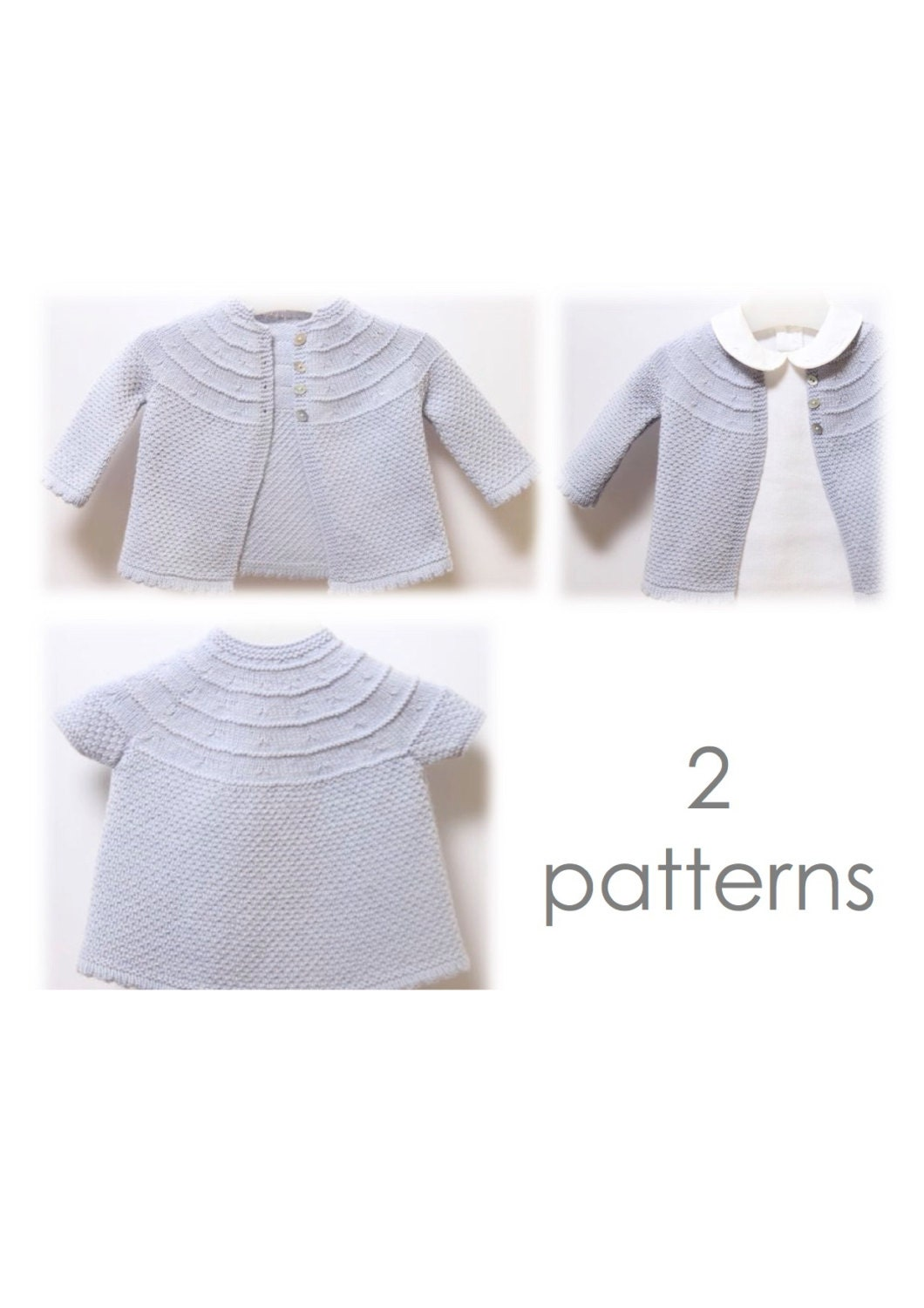 Baby Set / Knitting Pattern Instructions in English / PDF