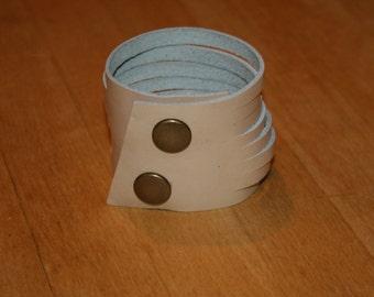 """2"""" Leather Cuff Bracelet  Choose Color..."""