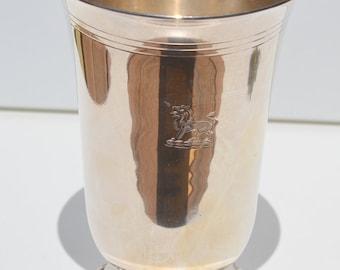 Vintage Silverplate Vase; Silver Goblet; Vintage Decor; Franglais Cottage Decor