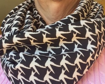 Escher-ish Black and White Infinity Scarf