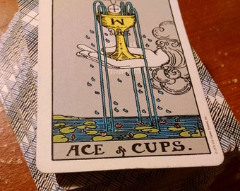 One Card Handwritten Mailed Reading: Deck Dispersion Ritual