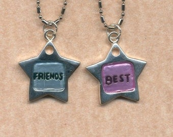 Best Friend Necklaces Star charms
