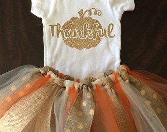 Thankful - Thanksgiving Outfit- TuTu