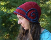 """Red and Blue """"Great Gatsby"""" Hat 