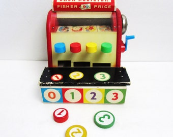 Fisher Price Cash Register With Coins #972