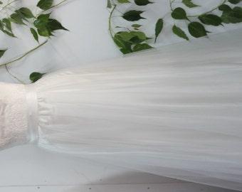 tulle bridal skirt overskirt detachable wedding skirt bridal separates