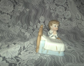 Homco Ceramic Boy Praying Figurine