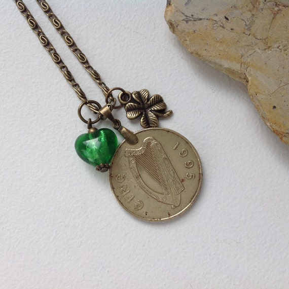 21st Birthday Gift Irish Long Coin Necklace By
