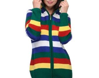 Ladies Cardigan   Woollen  Knit Cardigan  Winter Clothing Womens  Sweater Winter wear Zipper Cardigan with Hood