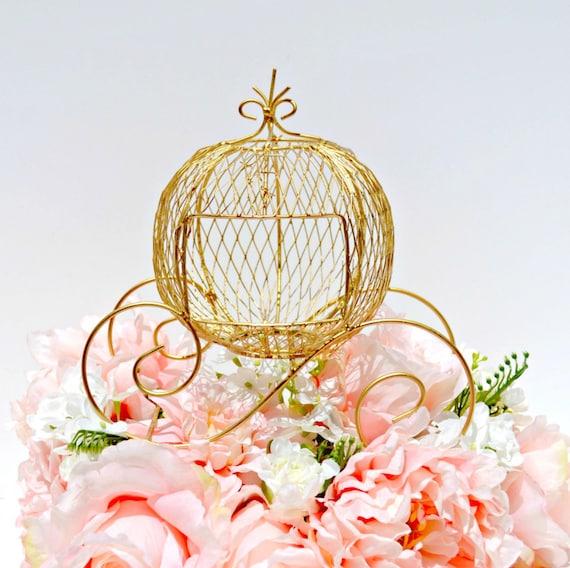 Wire cinderella coach gold carriage fairytale wedding