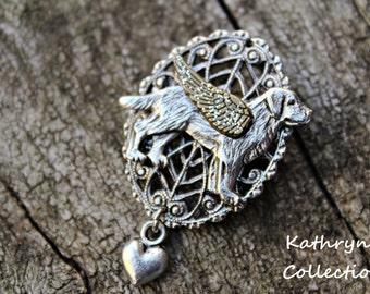 Labrador Retriever Angel Pin Brooch, Lab Angel, Labrador Jewelry, Labrador Angel, Chesapeake Bay Retriever, Flat Coated Retriever, Pet Loss