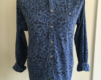 90's Royal Knight Abstract Pattern Button Down Size M