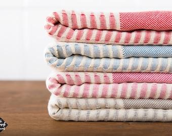 Parisian Towel, Cotton Turkish Towel, Beach Towel, Bath Towel, Red, Blue, Pink, Grey