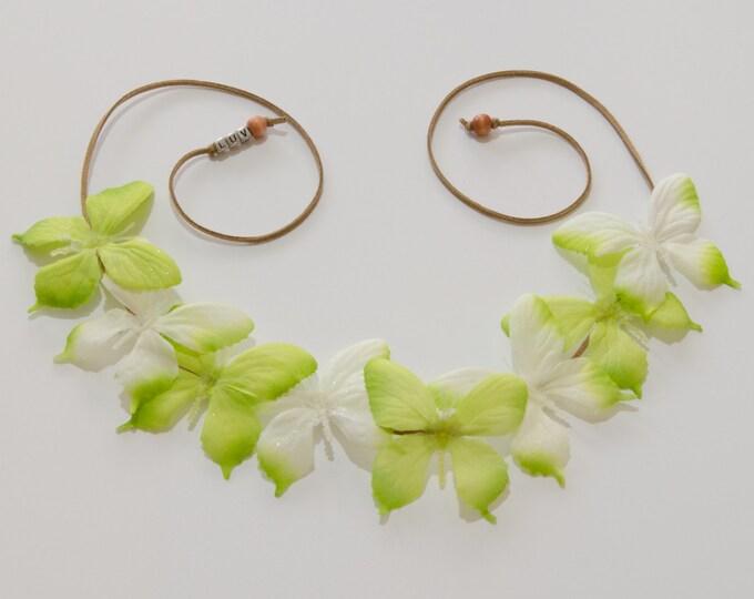 Green Butterfly Crown