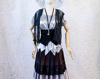 Silver and Black Witch, women's or teens halloween costume