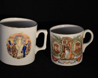 Two WW1 Commemorative Peace Mugs - 1919