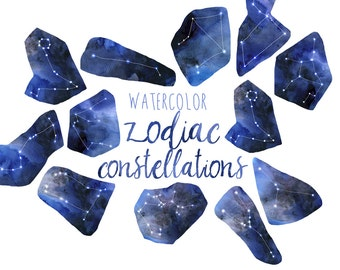 Watercolor Zodiac Clipart, Constellation Clipart Metaphysical clipart, Celestial Clip Art, Astrology Clipart, Horoscopes Illustration