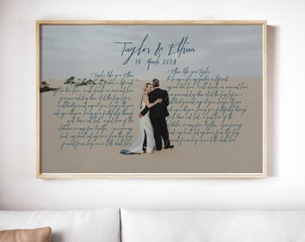 wedding vows framed 1st anniversary gift vows wedding vows first wedding anniversary gift for him 5th anniversary gift gift for him
