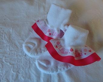 Little sister ruffled socks